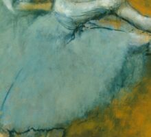 Edgar Degas - Dancers at the Barre ( 1900) Impressionism  ballerina dancers Sticker
