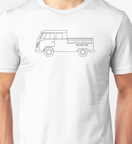 VW Type 2 Twin Cab Unisex T-Shirt