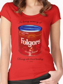 In Loving Memory of Donny Who Loved Bowling pop art variant 1 Women's Fitted Scoop T-Shirt