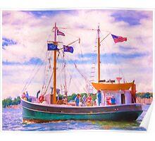 Aboard The Roann Poster