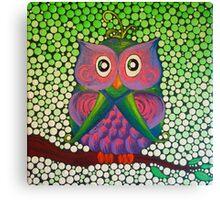 Purple Owl  Canvas Print