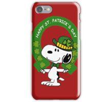 Snoopy Happy St Patricks Day iPhone Case/Skin