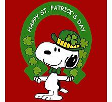 Snoopy Happy St Patricks Day Photographic Print
