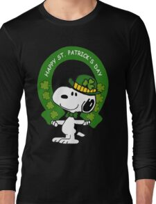 Snoopy Happy St Patricks Day Long Sleeve T-Shirt