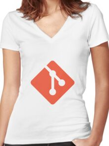 Git logo Women's Fitted V-Neck T-Shirt