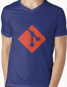 Git logo Mens V-Neck T-Shirt