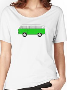 VW Type 2 Green Women's Relaxed Fit T-Shirt