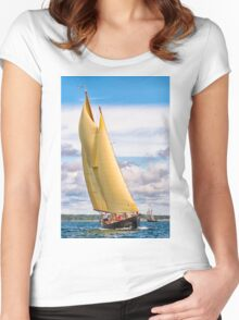 Catching The Wind Women's Fitted Scoop T-Shirt
