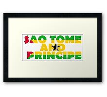 Sao Tome and Principe Framed Print