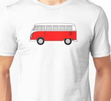 VW Type 2 Red Unisex T-Shirt