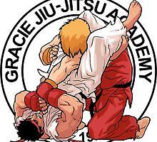 RYU VS KEN BRAZILIAN GRACIE JIU-JITSU STREET FIGHTER by GTS-RETRO