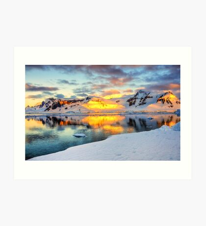 Antarctic Sunset Art Print