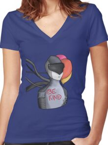Be Kind Women's Fitted V-Neck T-Shirt