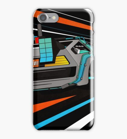 Delorean Time Flux - Orange iPhone Case/Skin