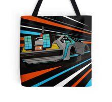 Delorean Time Flux - Orange Tote Bag