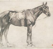 Edgar Degas - Horse with Saddle and Bridle ( 1868 - 1870) by famousartworks