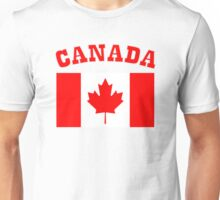 Patriotic I Am Canadian Maple leaf Canada Flag Unisex T-Shirt
