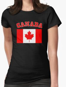 Patriotic I Am Canadian Maple leaf Canada Flag Womens Fitted T-Shirt