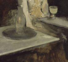 Edgar Degas - In a Cafe (1873) Sticker