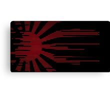 Black modern Japan Flag Canvas Print