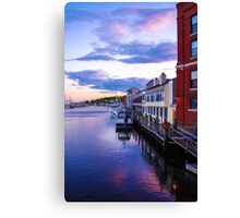 Along The Mystic Waterfront Canvas Print