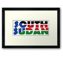 South Sudan Framed Print