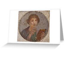 Souvenir from Pompeii - Saffo is thinking Greeting Card