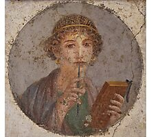 Souvenir from Pompeii - Saffo is thinking Photographic Print