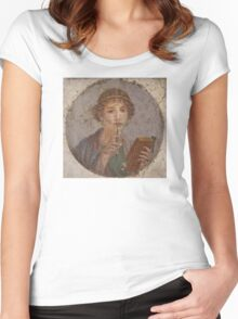 Souvenir from Pompeii - Saffo is thinking Women's Fitted Scoop T-Shirt