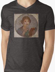 Souvenir from Pompeii - Saffo is thinking Mens V-Neck T-Shirt