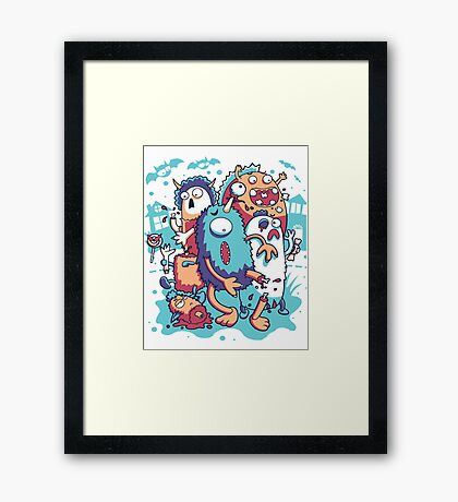 crazy and funny Framed Print