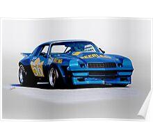 1978 Camaro GT 56 Vintage Racecar Poster