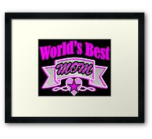 Cool mother's day fuchsia typography World's Best Mom Framed Print