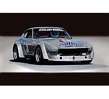 1973 Datsun 240Z GT Vintage Race Car Photographic Print