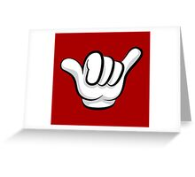 Hang loose. Surf and rock fingers Greeting Card
