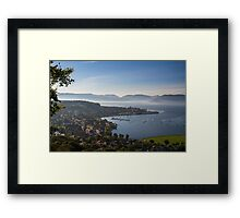Gourock and The Clyde one foggy spring morning Framed Print