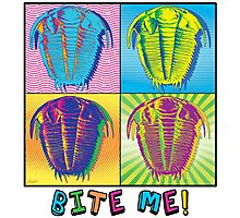 Bite Me Trilobite Pop Art Photographic Print