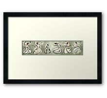 enchanting sufis - Mevlevi Sufi Whirling Dervishes Dancing Framed Print