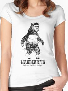 MANBEARPIG South Park Mythical Beast Funny Vintage Women's Fitted Scoop T-Shirt