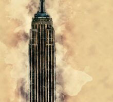 Empire State Building Mixed Media #2 Sticker