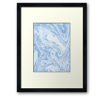 Ryoko - spilled ink abstract painting marble marbled paper art minimal swirl modern water ocean wave Framed Print