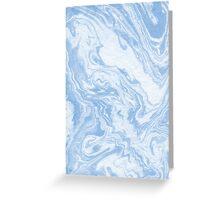 Ryoko - spilled ink abstract painting marble marbled paper art minimal swirl modern water ocean wave Greeting Card