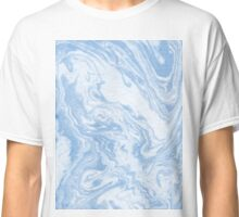 Ryoko - spilled ink abstract painting marble marbled paper art minimal swirl modern water ocean wave Classic T-Shirt