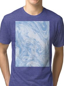 Ryoko - spilled ink abstract painting marble marbled paper art minimal swirl modern water ocean wave Tri-blend T-Shirt
