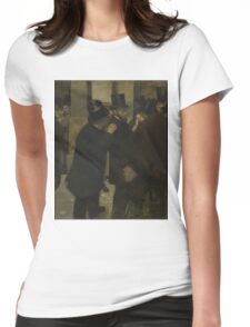 Edgar Degas - Portraits at the Stock Exchange (1878 - 1879) Womens Fitted T-Shirt