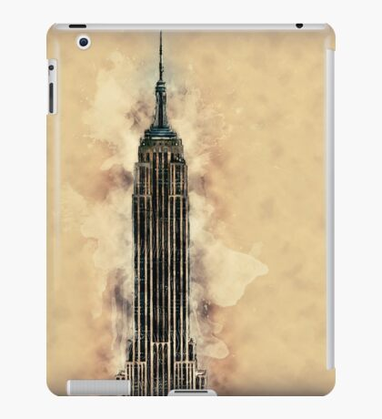 Empire State Building Mixed Media #2 iPad Case/Skin