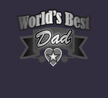 grunge father's day metallic typography world's best Dad Unisex T-Shirt