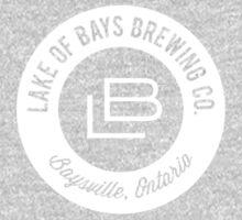 Lake of Bays Logo - White Baby Tee