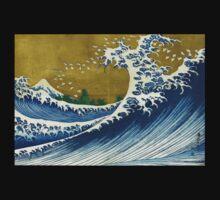 Japanese wave - Square Kids Tee