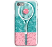 Good to go - memphis throwback 1980s neon pastel abstract sports tennis racquetball athlete game iPhone Case/Skin